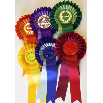 10 Sets of Two tier rosettes 1st-6th