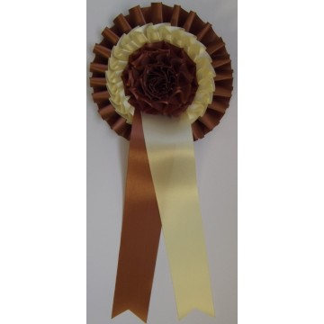 T3FR Frilly two tier ruffle rosette