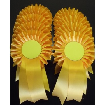 Yellow Rosettes - pack of 20