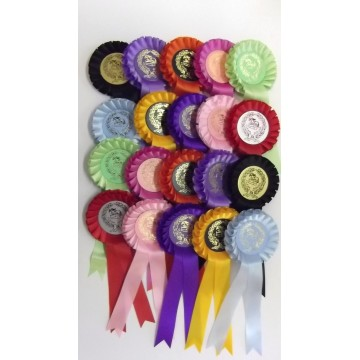 Clear Round Rosettes Pack of 20