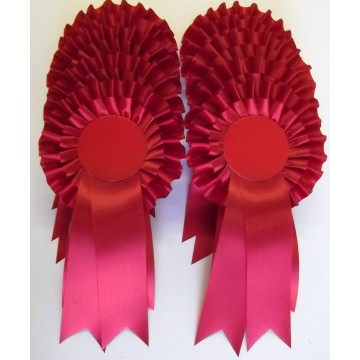 Red Rosettes - Pack of 20